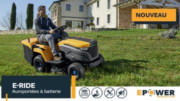 E-Ride C300 | Tracteur tondeuse à batterie